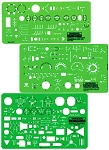Rapidesign R300 Electrical Template Set