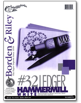 Borden & Riley #32 Ledger Hammermill Paper