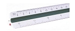 Pacific-Arc 95121 12 Inch Engineer Triangular Scale