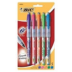 Bic Z4+ Rollerball Pens 5-Pack Assorted