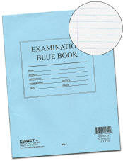 BB2 Comet Exam Blue Books