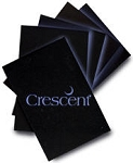 Crescent Ultra Black 8 Mounting Board 15x20 - 50 Sheets