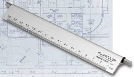 Alumicolor select a scale drafting scales for Blueprint scale