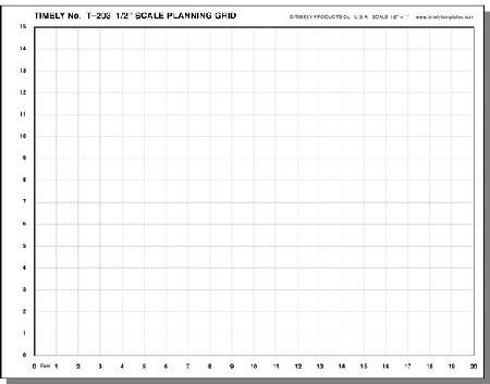 Timely 1 2 Inch Scale Planning Grid