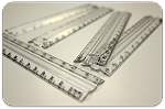 A&W 6 Inch Clear Plastic Rulers