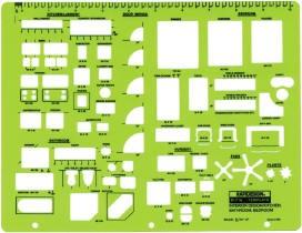 rapidesign r716 interior design kitchen bathroom template - Bathroom Design Template