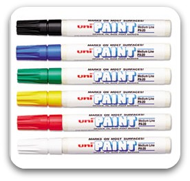 Uni-Paint Medium Point Markers Set of 6 Assorted Colors