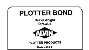 Alvin Heavyweight Opaque Plotter Bond Sheets 24x36 50 Sheets