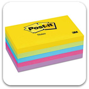 Post-It Notes 3x5 Ultra Colors