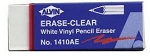 Alvin White Vinyl Pencil Erasers