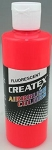 Createx Airbrush Paint 8 oz Fluorescent Red