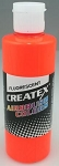 Createx Airbrush Paint 2 oz Fluorescent Orange