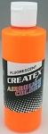 Createx Airbrush Paint 2 oz Fluorescent Sunburst