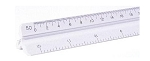 Pacific-Arc 92121 12 Inch Engineer Triangular Scale