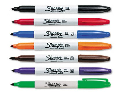 Sharpie Pen Grip with Fine Tip - Black, Pack of 2