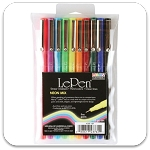 Marvy Uchida Neon/Primary LePen Set of 10