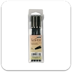 Marvy Uchida Black LePen Set of 4
