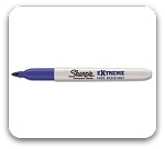 Sharpie Extreme Fade Resistant Fine Point Blue Markers