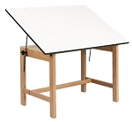 Alvin Titan Solid Oak Drafting Tables