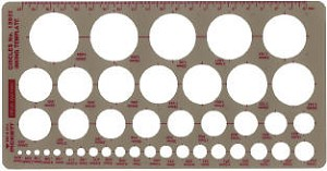 Pickett 1300i Metric Circles Template