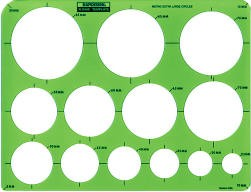 Rapidesign R2440 Metric Extra Large Circles Template