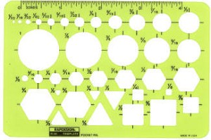 Rapidesign R50 & R2050 Pocket Pal General Purpose Templates