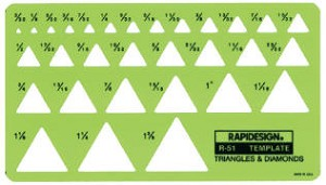 Rapidesign R51 & R2051 Triangles and Diamonds Template