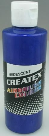 Createx Airbrush Paint 4 oz Iridescent Electric Blue