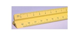 Pacific-Arc 92123 12 Inch Engineer Triangular Scale