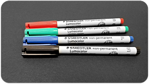 Staedtler Lumocolor Non-Permanent Marker - Medium Red