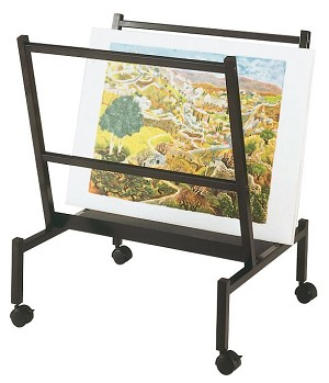 "Heritage Arts™ Small 26"" Wide Poster & Print Rack PHR50-BK"