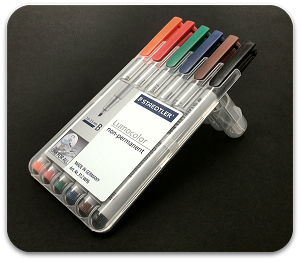 Staedtler Lumocolor Non-Permanent Marker - Broad Set of 6