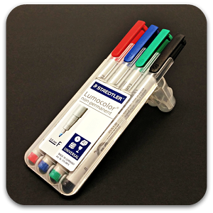 Staedtler Lumocolor Non-Permanent Marker - Fine Set of 4