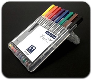 Staedtler Lumocolor Permanent Marker - Fine Set of 8