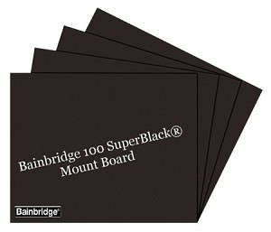 Nielsen Bainbridge 100 Super Black Mount Board 32x40 25 Single Thick Sheets