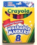 Crayola Washable Markers Bold Colors 8 Fine Point