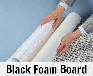Elmers Self Adhesive Black Foam Board 20x30x3/16 -10 Sheets