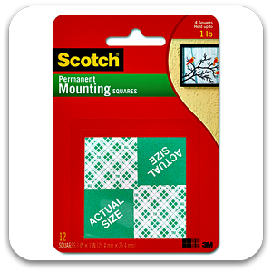 Scotch Permanent Foam Mounting Squares