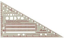 Pickett 1189i Forms Ruler Template