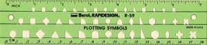 Rapidesign R59 Plotting Symbols Template