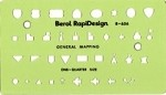 Rapidesign R656 General Mapping Symbols Template