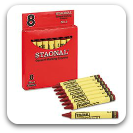Staonal Red Marking Crayons