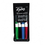 Sanford Expo 4-Color Fine Tip Dry Erase Marker Set