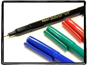 Pilot SCA-UF Extra Fine Point Permanent Markers