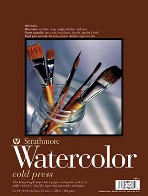 Strathmore 9x12 Watercolor Paper Pad Series 400
