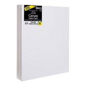 Darice Studio 71 Stretched Canvas Value Pack, 16 x 20 Inches, 5 Pack