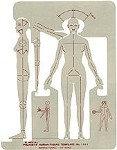 Pickett 1141i Female Human Figure Template