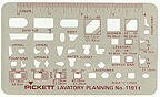 Pickett 1191i Lavatory Planning Template