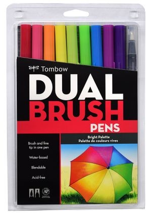 Tombow Bright Palette Dual Brush Pen Set