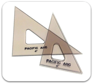Pacific Arc Topaz Tinted Triangles